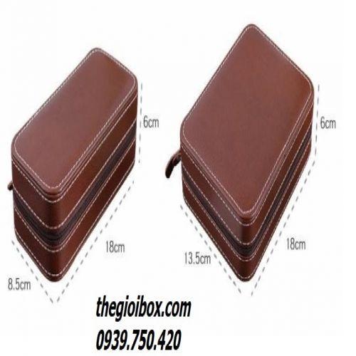 Bóp - Túi Đựng Đồng Hồ Du Lịch [2 Ngăn] - Mã BDH2