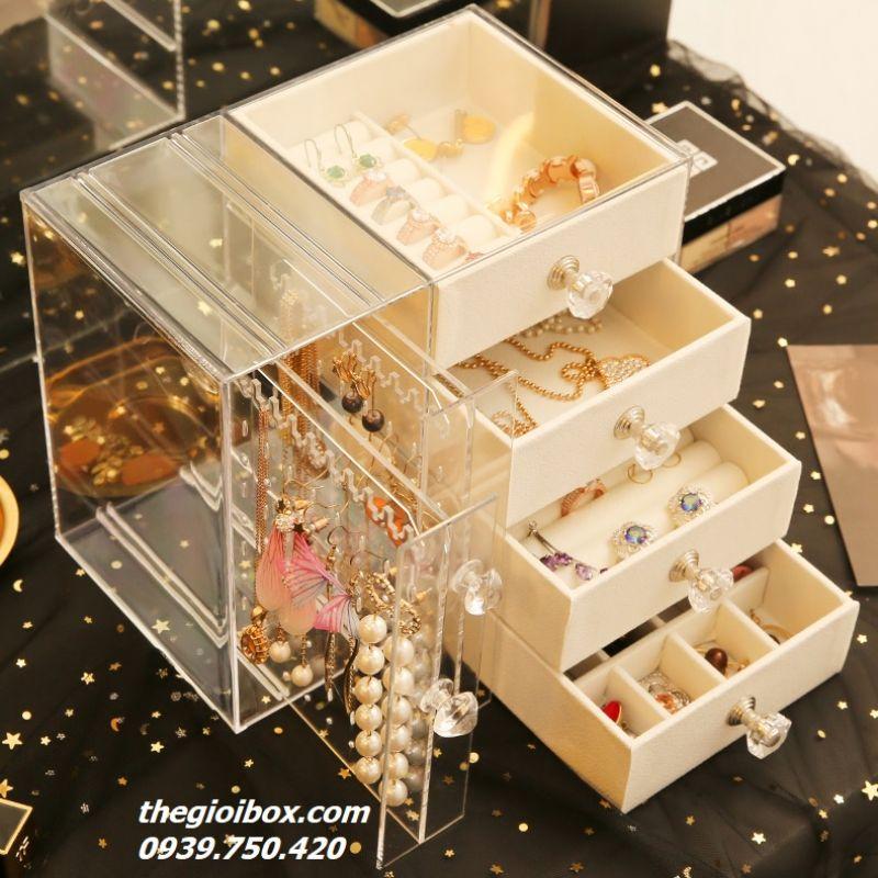 Tủ Hộp Treo Hoa Tai - Phụ Kiện Trang Sức (6 Ngăn) - Mã BT6N