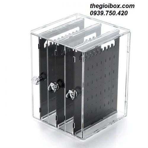 Tủ Hộp Treo Khuyên Tai - Trang Sức (3 Ngăn) - Mã BT3N