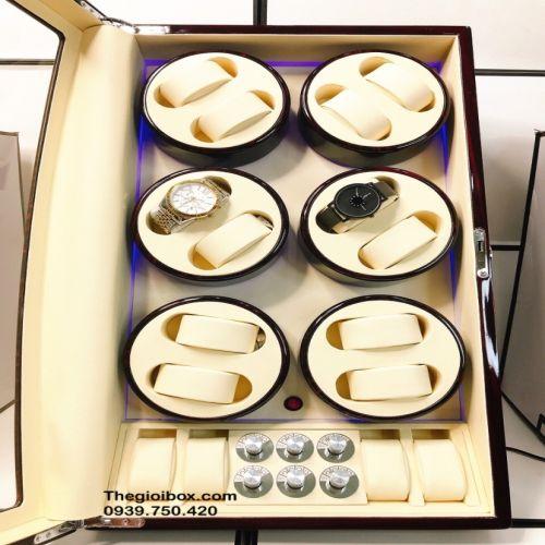 Tủ Hộp Lắc Đồng Hồ Cơ 12 Xoay + 4 Tĩnh - Mã TU12X4