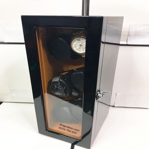 Tủ Lắc Đựng Đồng Hồ Cơ 6 Xoay Có Đèn Led - Có Pin - Mã TU6X0