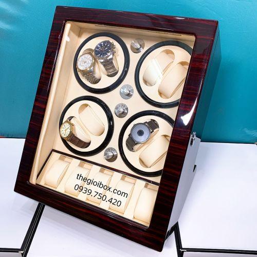 Tủ Đựng Đồng Hồ Cơ 8 Xoay + 5 Tĩnh [Màu Nâu] - Mã CO8X5N