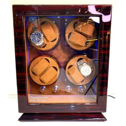 Tủ Xoay Đồng Hồ Cơ 8 Ngăn Vỏ Gỗ Lót Nỉ Nhung - Mã CO8X0N