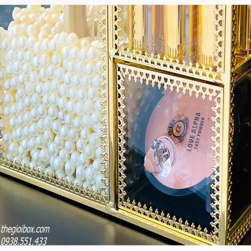 Hộp Đựng Cọ Trang Điểm - Son Môi Mạ Vàng Golden Sang Trọng - Mã CPVV