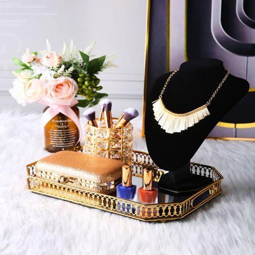 [Mẫu Vuông] Khay Đựng Nước Hoa, Mỹ Phẩm & Đồ Trang Trí Mạ Vàng - Mã KNH8G