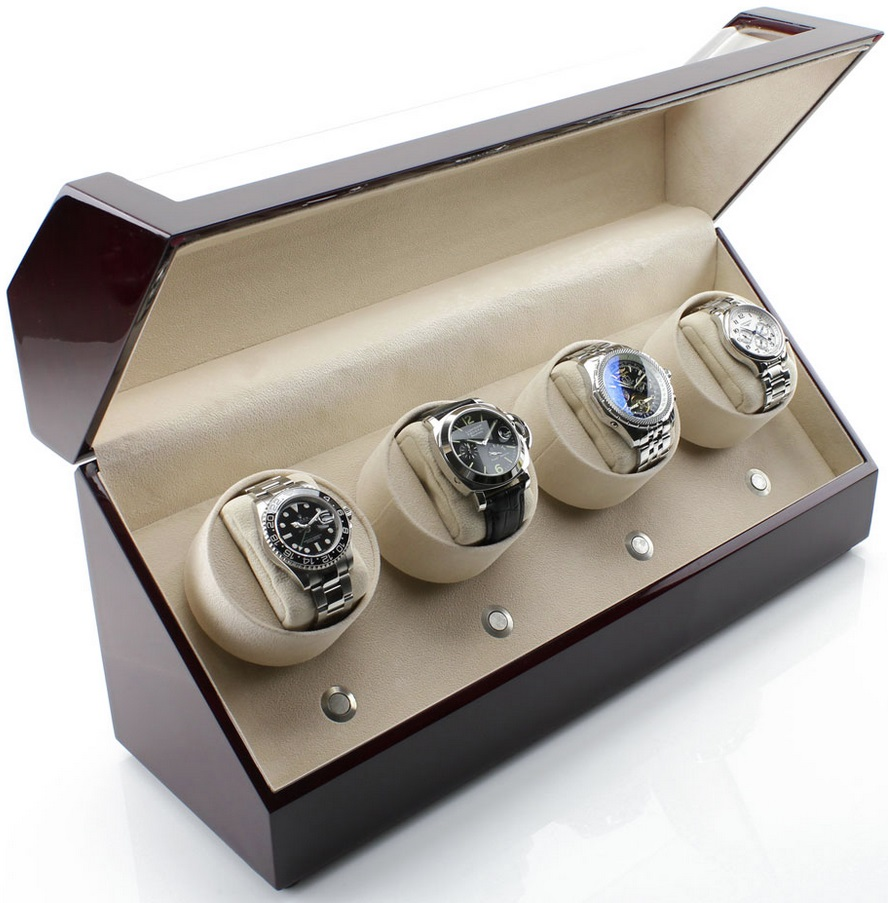 hộp xoay đồng hồ cơ 4 ngăn xoay cao cấp giá rẻ