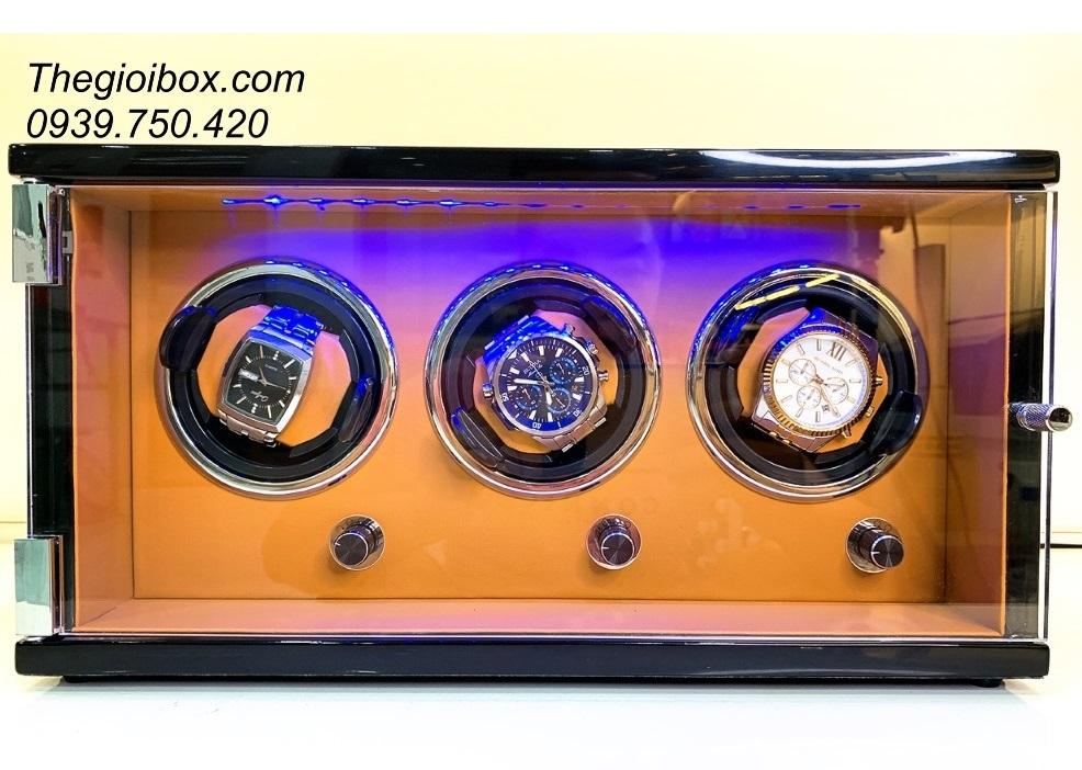 tủ hộp xoay đựng đồng hồ cơ 3 ngăn cao cấp giá rẻ