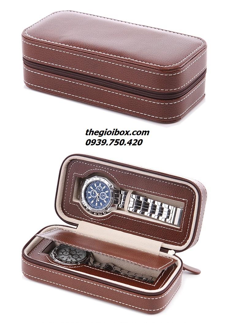 bóp túi đựng đồng hồ đi du lịch bằng da