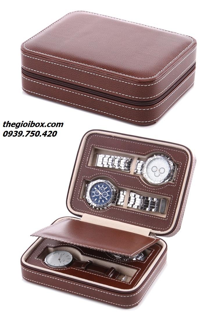 Bóp túi đựng đồng hồ đeo tay đi du lịch 4 chiếc