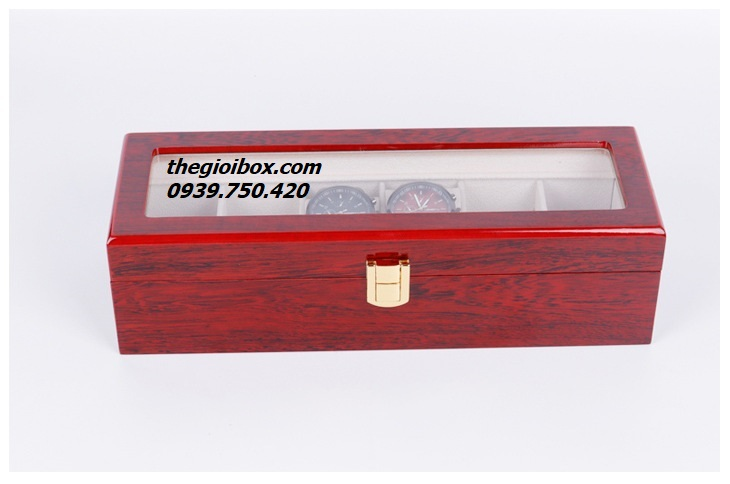 hộp đựng đồng hồ 6 chiếc bằng gỗ sang trọng đẹp giá rẻ