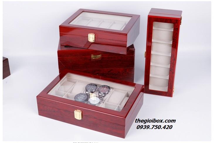 Hộp đựng đồng hồ đeo tay bằng gỗ 12 ngăn cao cấp giá rẻ