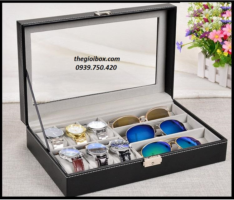 Hộp đựng đồng hồ và mắt kính vỏ da cao cấp, giá rẻ