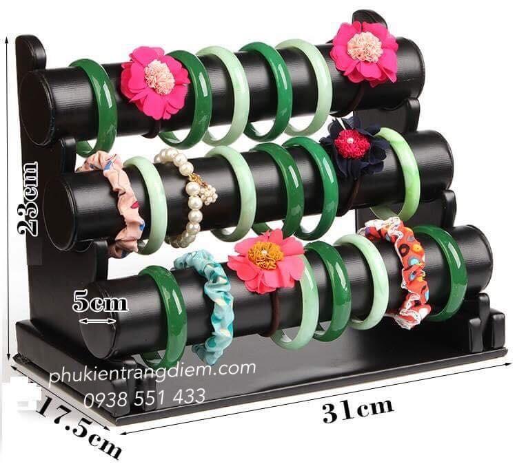 giá kệ treo vòng tay đồng hồ phụ kiện trang sức 3 tầng