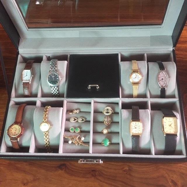 Hộp đựng đồng hồ và nhẫn, trang sức vỏ da cao cấp, giá rẻ