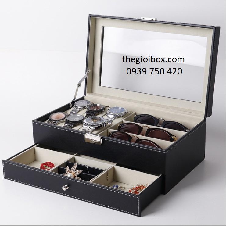 Hộp đựng đồng hồ, mắt kính và trang sức sang trọng, cao cấp