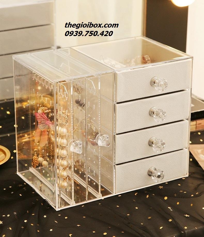 Tủ hộp treo đựng bông tai khuyên tai phụ kiện trang sức giá rẻ