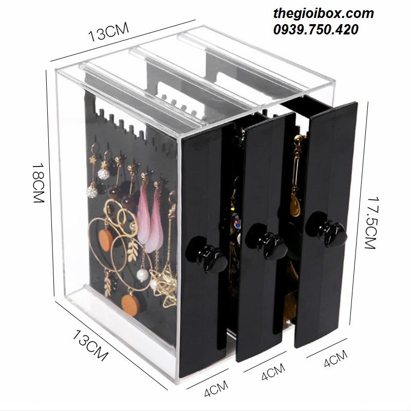 Tủ hộp treo bông tai khuyên tai trong suốt giá rẻ tphcm