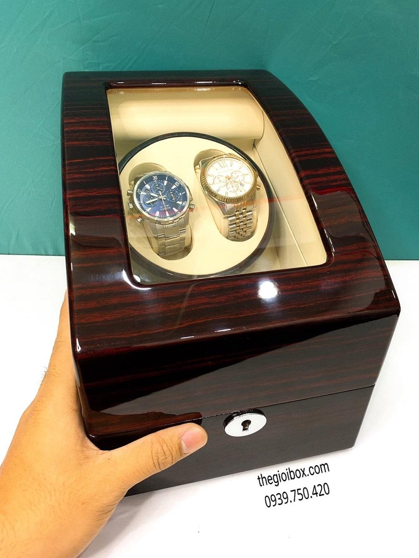 Hộp xoay đồng hồ cơ, Hộp đựng đồng hồ 2 xoay, Hộp lắc đồng hồ, Hộp đựng đồng hồ tự động, Máy lắc đồng hồ cơ, Hộp đồng hồ cơ 4 chế độ, Hộp đồng hồ có đèn led