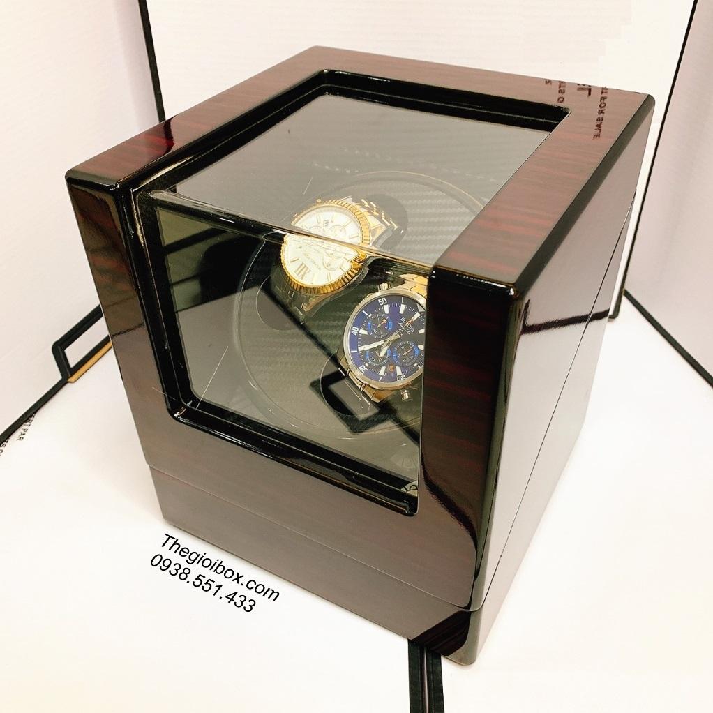 hộp tích cót lên dây đồng hồ đeo tay 2 ngăn xoay cao cấp