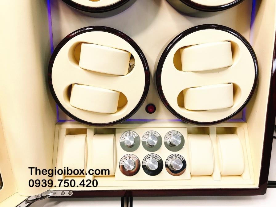 tủ - hộp đựng đồng hồ cơ tự động quay 12 ngăn xoay